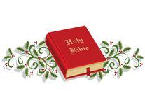 Holy Bible and Holly Royalty Free Stock Images