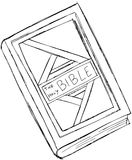 Sketch of the holy bible isolated Stock Images