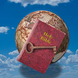 Holy Bible and Key. Holy Bible and key to life Stock Image