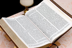 Holy Bible Open 1 stock photography