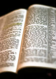 Holy Bible Open Stock Image