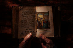 Holy bible and praying. Stock Photography
