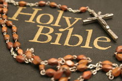 Holy Bible & Rosary Stock Photos