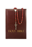 Holy bible with rosary. Stock Photography
