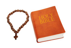 Holy Bible with a rosary Royalty Free Stock Photography