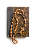 Holy bible and rosary beads Royalty Free Stock Photos