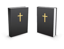 Holy bible. The holy bible standing in two perspectives on the white background Royalty Free Stock Photo