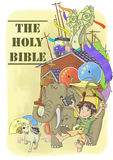The holy bible. In Thai style with many cute cartoon characters Royalty Free Stock Photography
