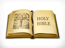 Holy Bible vector illustration stock illustration
