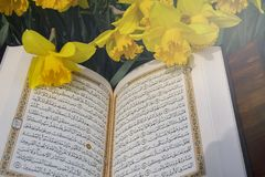 The Holy Quran - Islamic holy book royalty free stock photos