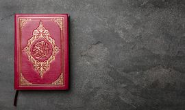 Holy book of Muslims. On gray background Stock Photography