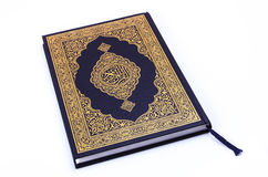 The Holy Book Qur'an. Qur'an or Koran, is the central religious text of Islam, which Muslims believe to be a revelation from God (Arabic:Allah).Its scriptural Stock Photos