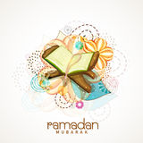 Holy Book Quran Shareef for Ramadan Kareem celebration. Stock Photos