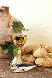 Holy bread and fish Royalty Free Stock Photography