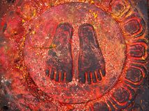 The Holy Buddha Feet - Nepal, Kathmandu, Royalty Free Stock Photography