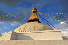 The holy Buddhist Swayambhunath stupa. Kathmandu, Nepal Royalty Free Stock Photography
