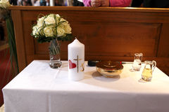 Holy candles at the communion Royalty Free Stock Photos