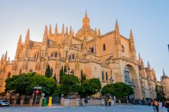 The Holy Cathedral of Segovia stock photography