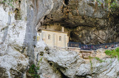 Holy cave of covadonga Royalty Free Stock Image