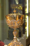Holy chalice. Used for christian blessing ceremonies Royalty Free Stock Images