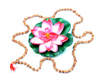 Holy chandan japa mala Royalty Free Stock Image