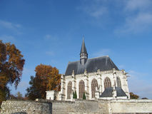 Holy Chapel, Champigny sur Veude , France. Built by Louis de Bourbon after the original Sainte Chapelle in Paris Royalty Free Stock Photos