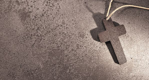 Free Holy Christian Cross On Stone Background For Funeral Card. Royalty Free Stock Photo - 86105495