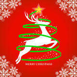 Holy Christmas. Christmas Deer Illustration. EPS 10 file and large jpg included Stock Photo