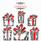Holy Christmas Tattoo Style Gift Pack Royalty Free Stock Photos