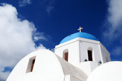 Holy Church. A white church in Greece Stock Images