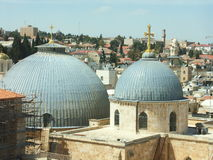 Holy church in Jerusalem. Churches in Jerusalem old city Stock Photography