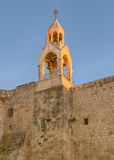 Holy Church of the Nativity Bell Tower, Bethlehem, Israel. Holy Church Of The Nativity bell tower glows in the late afternoon sun, Bethlehem, Israel. The church Royalty Free Stock Photo