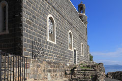 The Holy Church was built on the Sea Gennesaret. Royalty Free Stock Images