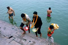Holy City Benaras In India Stock Photo