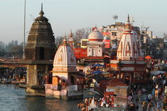 The Holy City Haridwar on the Ganges Stock Photos