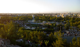 The Holy City of Mashhad. Aerial view of the Holy City of Mashhad and the shrine of Imam Reza, Show some high buildings And some mountains and high plateaus and Royalty Free Stock Photography
