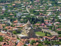 Free Holy City Of Mtskheta View On Svetitskhoveli Cathedral From Jvari Monastery In Mtskheta, Mtskheta-Mtianeti, Georgia Royalty Free Stock Photo - 134295955