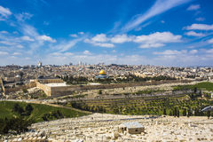 The holy city of three religions - Jerusalem Stock Images