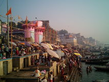 Holy City varanasi royalty free stock image