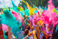 Holy color festive in Saint-Petersburg. Indian Holy color festive in Saint-Petersburg Stock Image