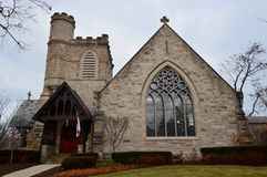 Holy Comforter Church. This is Arcturus of Holy Comforter Episcopal Church in Kenilworth, Illinois.  The congregation was organized on October 22, 1893 and would Stock Photography
