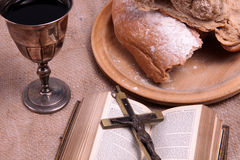 Holy Communion. A still life depicting Holy Communion Stock Photography