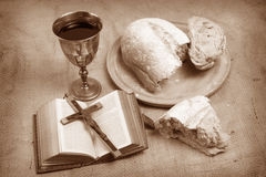 Holy Communion. A still life depicting Holy Communion Stock Image