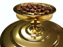 Holy Communion. Communion tray and lid royalty free stock image