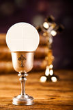 Holy of communion, bright background, saturated concept Stock Images