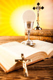 Holy of communion, bright background, saturated concept Royalty Free Stock Photos