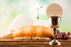 Holy of communion, bright background, saturated concept Royalty Free Stock Images