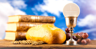 Holy of communion, bright background, saturated concept Royalty Free Stock Photo