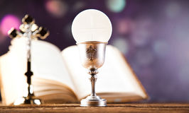 Holy of communion, bright background, saturated concept Royalty Free Stock Photography