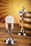 Holy of communion, bright background, saturated concept Stock Photography